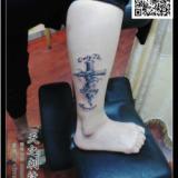 供应十字架纹身狼头纹身蝴蝶纹身