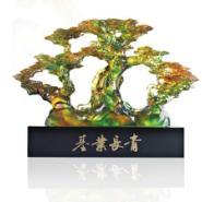 基业长青/古法琉璃松树礼品摆件图片