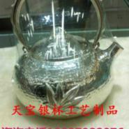 山东纯银茶具批发图片