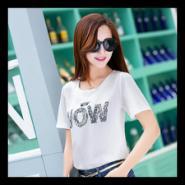 2015夏季韩版雪纺衫短袖T恤图片