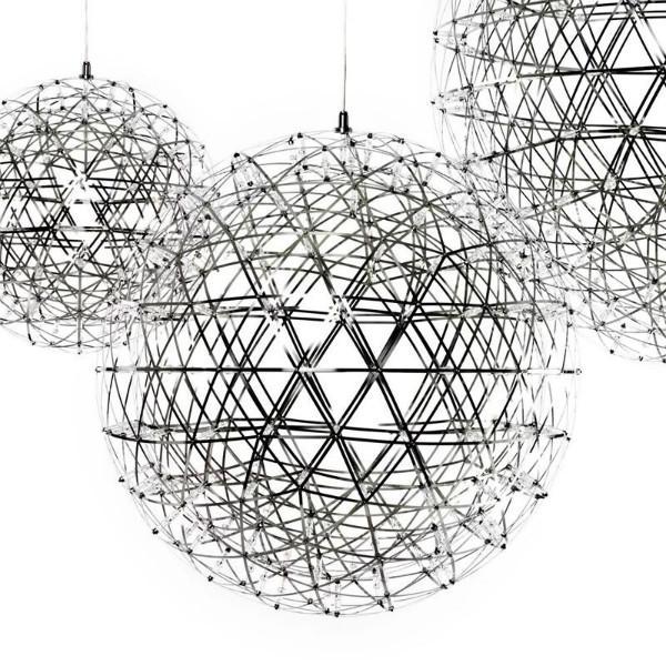 供应圆球吊灯新款LED圆球创意火花满天星球LED酒店西餐厅服装店办公室吊灯
