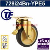 供应重型工业万向带刹车欧式脚轮-河南邓州最全的静音轮生产厂家
