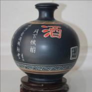 5斤装瓷酒瓶定制手工雕刻陶工艺瓶图片