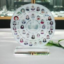 供应纪念品,北京同学聚会水晶纪念品,聚会水晶摆件礼品相片定做