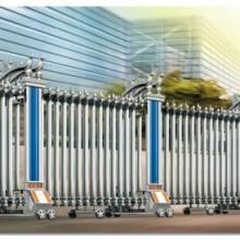 供应桦枫电动伸缩门厂家,铝合金伸缩门,不锈钢电动门